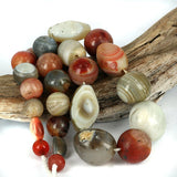 Large Old Mixed Stone Beads