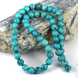 Real Blue Turquoise Gemstone Beads 8mm - USA