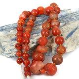 Very Old Carnelian Agate Bead Strand