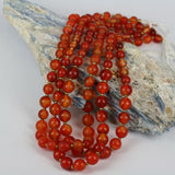Natural Carnelian  - Aged Hand Worked Beads