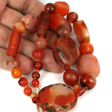 Very Old Carnelian Agate Bead Strand Indus Valley.