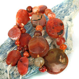 Indus Valley Old Carnelian Agate Bead Strand