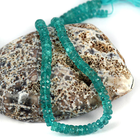 Natural Apatite Gemstone Beads - 5mm Facet Cut Ronde