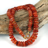 Old Carnelian Agate Bead Strand Necklace