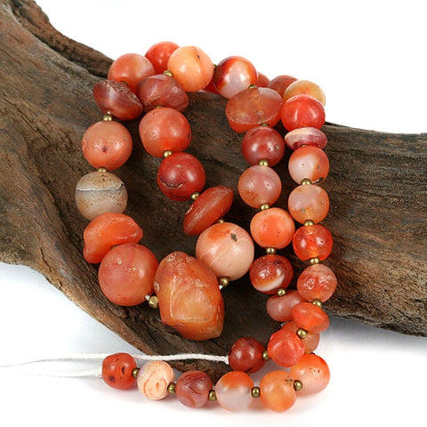 Very Old Carnelian & Agate Bead Strand