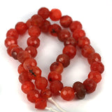 Faceted Old Carnelian Bead Str.