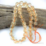 Citrine Facet Cut 10mm Gemstone Beads - 15 Inch Str.