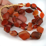 African Traded Old Agate Carnelian Stone Bead Strand