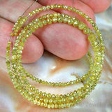 Natural Yellow Diamond Gemstone Beads