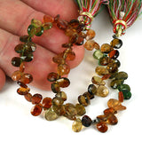 Shaded Tourmaline Brio Drop Gemstone Beads