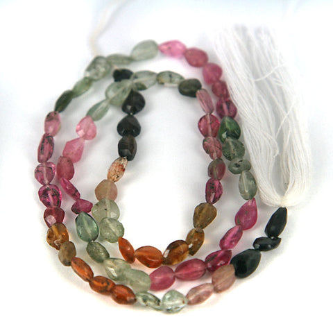 Multi-Color Tourmaline Gemstone Beads