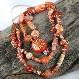 Collectible Old World Decorated Carnelian Strand.