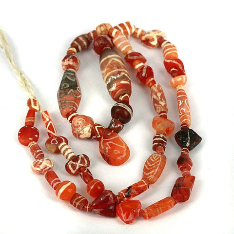 Collectible Old World Decorated Carnelian Strand