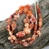 Collectible Old Decorated Carnelian Strand