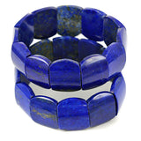 High Grade Royal Blue Afghan Lapis Lazuli Gemstone Bracelet