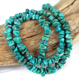 Real Turquoise Gemstone Bead 16 Inch Str. Stabilized USA Turquoise
