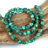 Petite Real Turquoise Stabilised Gemstone Bead Str. Smaller Nugget Shape