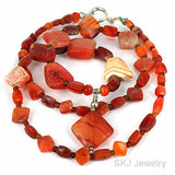 Very Old Carnelian Agate Bead Strand Necklace