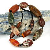 Very Old Jasper Agate Bead Strand - Necklace.