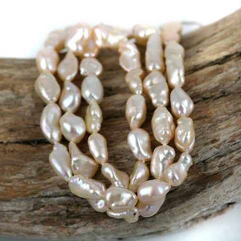 Small Pinkish Color Pearl Nugget Beads