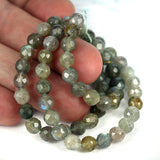 6mm Labradorite Faceted Round Beads