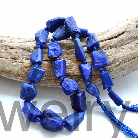 Royal Blue Natural Lapis Lazuli Nugget Beads