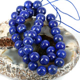 Natural Lazuli Beads 10mm Lines - Untreated High Grade