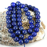 Natural 8mm Natural Afghan Lapis Lazuli Gemstone Beads