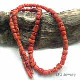 African Traded Old Coral Bead Str. 3 - 6mm