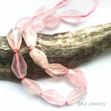 Rose Quartz Nugget Beads Clearance