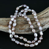 Knotted Long 30 Inch Pearl Bead Necklace