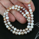 Multi Color Pearl Bead Str. 6-7mm