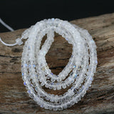 Natural Moonstone 3mm Smooth Rondelle Beads