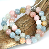 Mixed Beryl Aquamarine Bead Bracelet