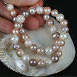 Multi Color Pearl Bead Str. 9 - 10mm