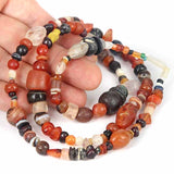 Yemen Traded Mixed Old Stone Bead Strand