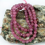 Ruby 5mm Faceted Untreated 16 Inch Str