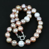 Multi Color Pearl & Ruby Necklace