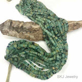 Reworked Old Glass Beads 4mm Disc Heishi