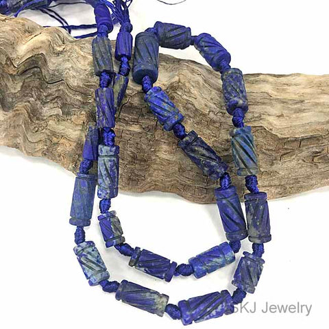 Natural Hand Made Lapis Lazuli Beads