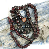 Old Mixed Garnet Bead Strand.