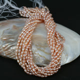 4mm Small Pinkish Oval Color Pearl Beads