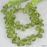 Peridot Faceted Flat Brio Drop