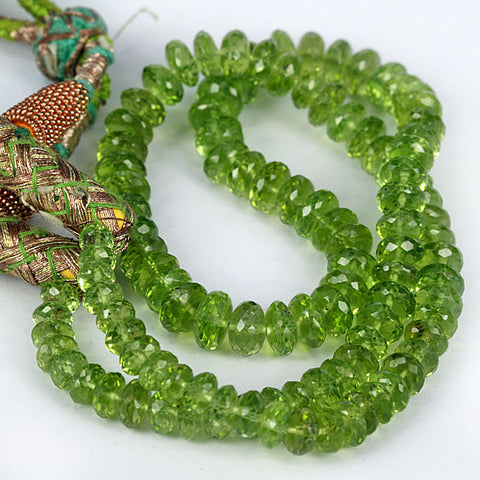 6mm Peridot Micro Facet Rondelle
