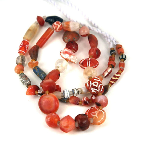 Very Old Mixed Stone Bead Strand