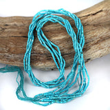 Natural Turquoise Heishi Beads - Very Small Petite Size