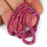Untreated Pink Burma Mogok Ruby Gemstone Beads