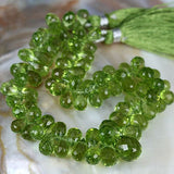 Copy of Small Peridot Faceted Brio Drop
