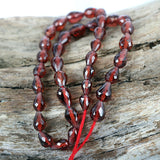 Natural Pyrope Garnet Gemstone Beads Faceted Drop Shape
