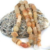 African Traded Old Quartz Stone Bead Strand